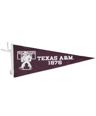 Texas A&M Ol` Sarge Vault Pennant Maroon/White