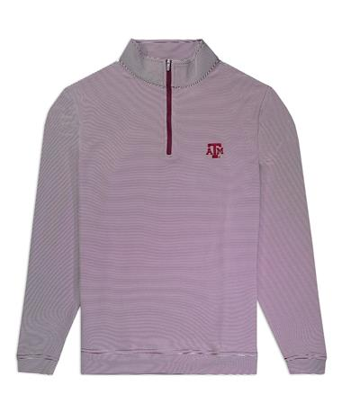 Texas A&M Peter Millar Perth Quarter Zip Pullover