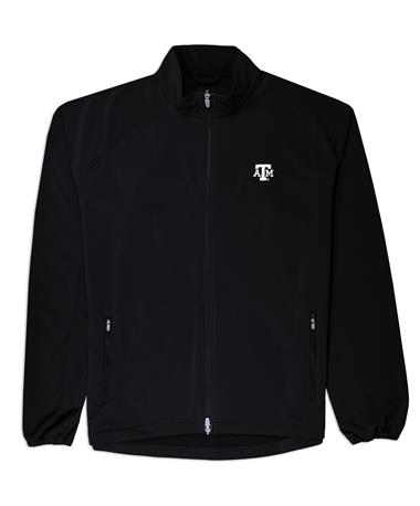 Texas A&M Peter Millar Full Zip Jacket - Front Black