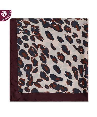 Maroon & Gold Cheetah Scarf