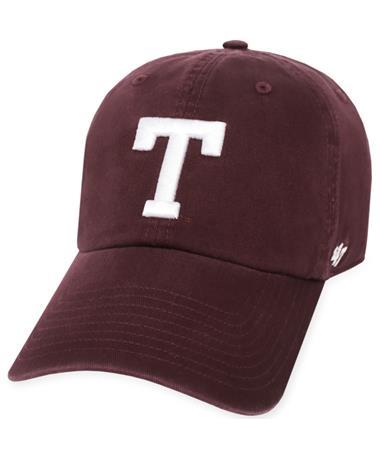 Texas A&M `47 Brand Block T Clean Up Cap - Maroon - Front Maroon