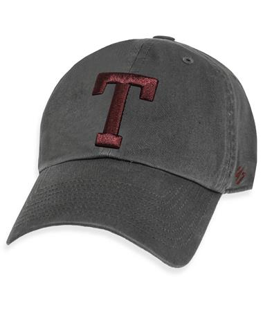 Texas A&M `47 Brand Block T Clean Up Cap - Charcoal - Front Charcoal