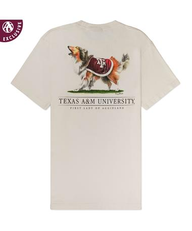 Texas A&M Reveille First Lady of Aggieland T-Shirt - Back AH OFF WHITE