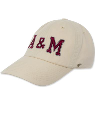 Texas A&M `47 Brand Vault A&M Clean Up Cap - Natural - Angled Natural