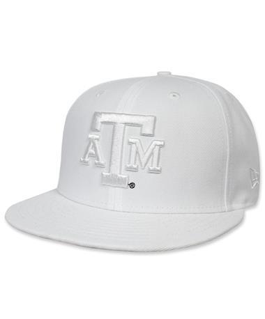 Texas A&M New Era Flat Bill Snapback - White - Front White