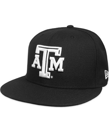 Texas A&M New Era Beveled Flat Bill Snapback - Black - Front Black