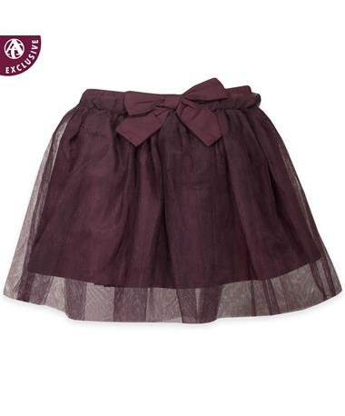 Maroon Toddlers Tulle & Bow Skirt