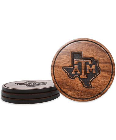 Texas A&M Lone Star Coasters - Front CHERRY