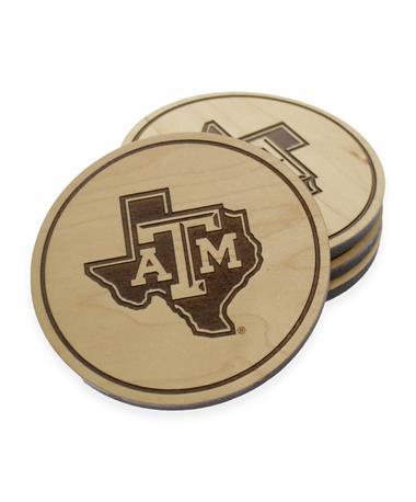 Texas A&M Lone Star Maple Coasters