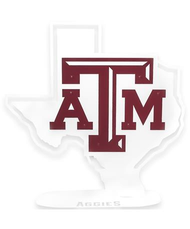 Texas A&M Aggies Lone Star Standing Metal Sign