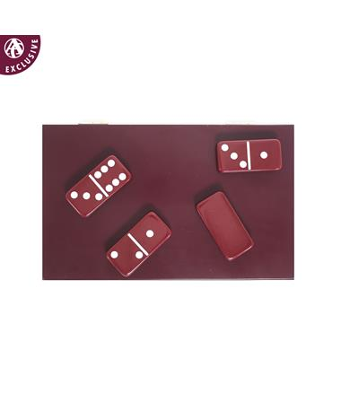 Maroon Domino Set - Top - Dominoes Maroon