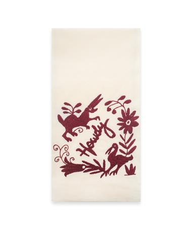 Nativa Embroidered Howdy Kitchen Towel - Front Howdy