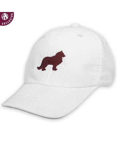 Texas A&M Maroon Reveille Hat - White - Front White