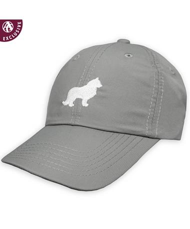 Texas A&M White & Grey Reveille Hat - Frost Grey - Front Frost Grey