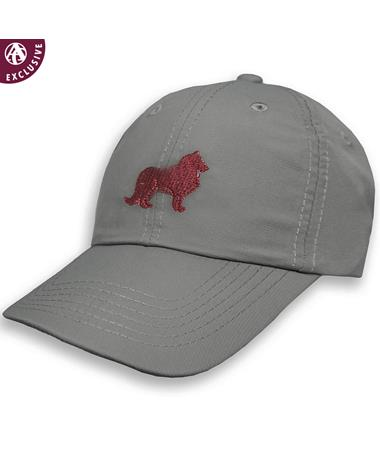 Texas A&M Maroon & Grey Reveille Structured Hat - Frost Grey - Front Frost Grey