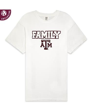 Texas A&M Family T-Shirt - Front GDH100 White