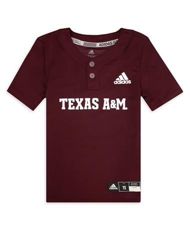 Texas A&M Adidas Youth Maroon Diamond King Elite 2-Button Jersey