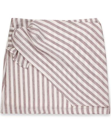 Maroon & White Striped Tie Skirt BERRY