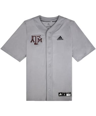 Texas A&M Adidas Diamond King Elite Full Button Baseball Jersey