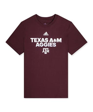 Texas A&M Adidas Youth Spray My Name Amplifier Tee