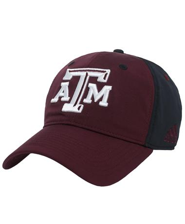 Texas A&M Adidas Coach Slouch Flex - Front Maroon/ Black