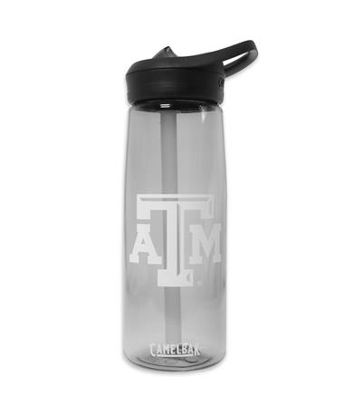 Texas A&M Charcoal CamelBak Water Bottle - Front Charcoal