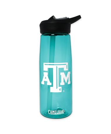 Texas A&M Teal CamelBak Water Bottle - Front Teal
