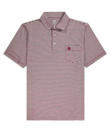 Texas A&M Peter Millar Seaside Stripe Polo