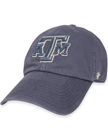 Texas A&M `47 Brand Hudson Blue Clean Up Cap - Portal - Front Portal