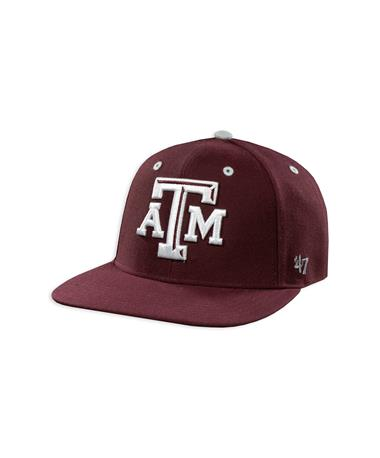 Texas A&M Aggies '47 Brand Captain Youth Flat Bill