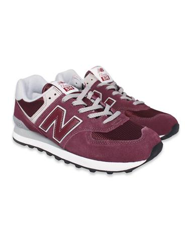 Maroon New Balance Men`s Tennis Shoes - Pair - Angled Maroon