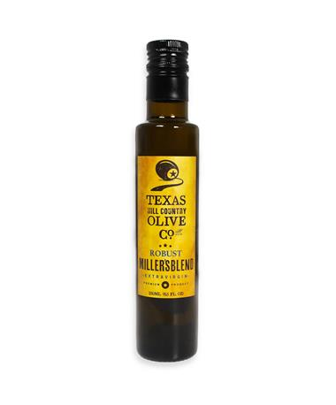 Texas Hill Country Miller`s Blend Extra Virgin Olive Oil - Front Olive