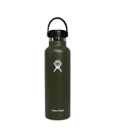 Olive 21oz. Hydro Flask - Front Olive
