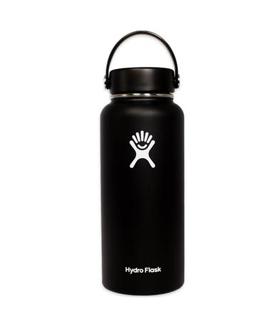 Black 32oz. Wide Mouth Hydro Flask - Front Black