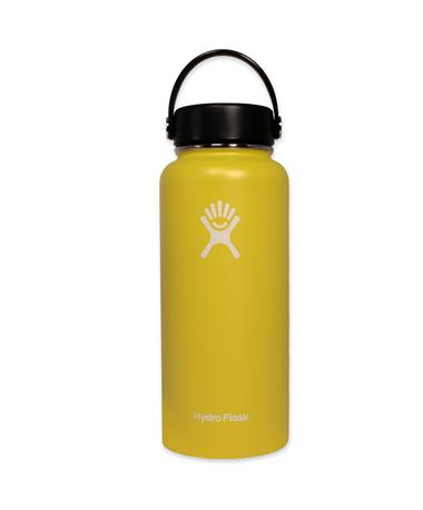Yellow 32oz. Wide Mouth Hydro Flask - Front Yellow