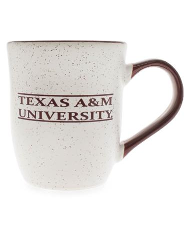 Texas A&M 16oz Maroon Handle Granite Mug