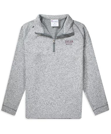 Texas A&M Men`s Arctic 1/4 Zip Fleece Mineral Grey