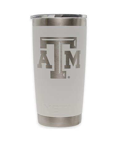 Texas A&M Yeti 20oz White Tumbler White
