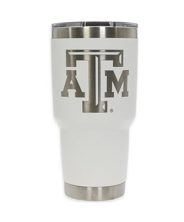 Texas A&M Yeti 30oz White Tumbler