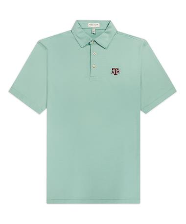 Texas A&M Peter Millar Jubilee Stripe Stretch Jersey Polo