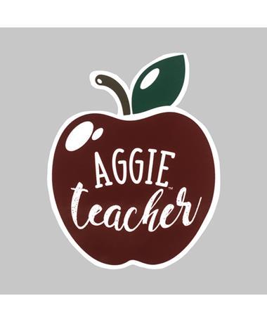 Maroon Aggie Teacher Apple Dizzler Sticker