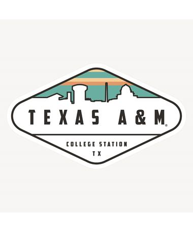 Texas A&M Diamond Skyline Dizzler Sticker Multi