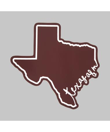 Texas A&M Script Dizzler Sticker