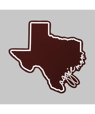 Texas Aggie Mom Script Dizzler Sticker