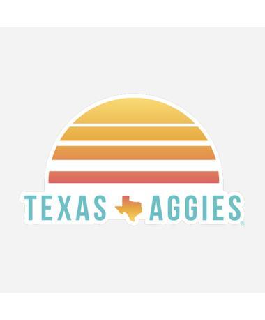 Texas Aggies Sunset Dizzler Sticker Multi