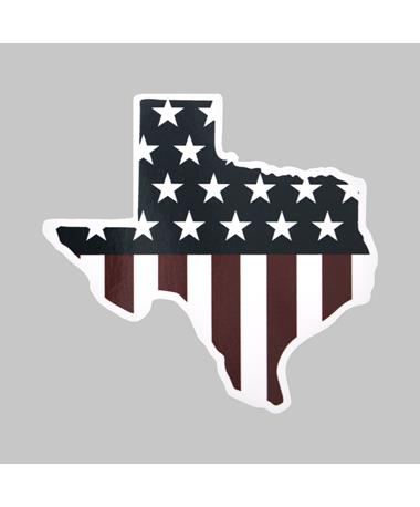 Texas American Flag Dizzler Sticker