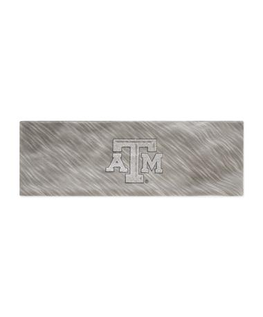 Texas A&M Glitter Logo Jersey Knotted Headband - Grey - Front Grey