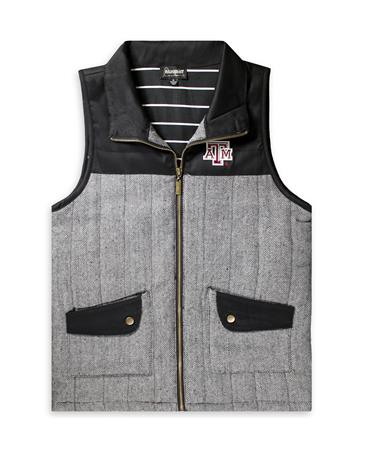 Texas A&M Prep For It Knit Vest - Black - Front Black