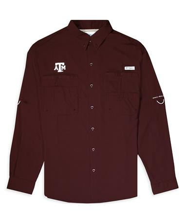 Texas A&M Columbia Tamiami Long Sleeve Button Down
