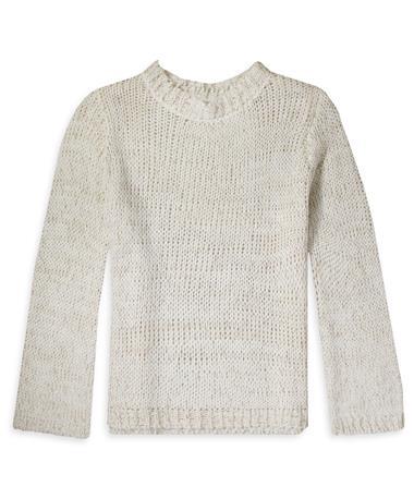 Z Supply Washington Knit Sweater - Ivory - Front Winter White